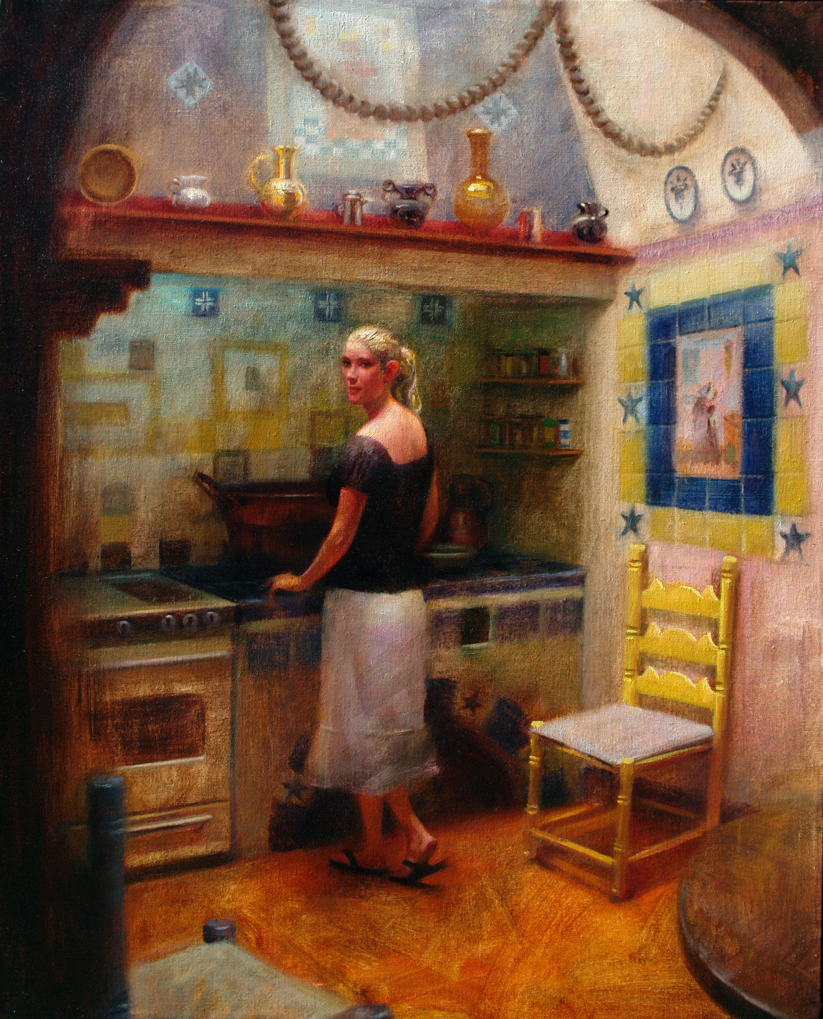 sergio-sanchez-the-spanish-kitchen-24x30-oil-on-linen